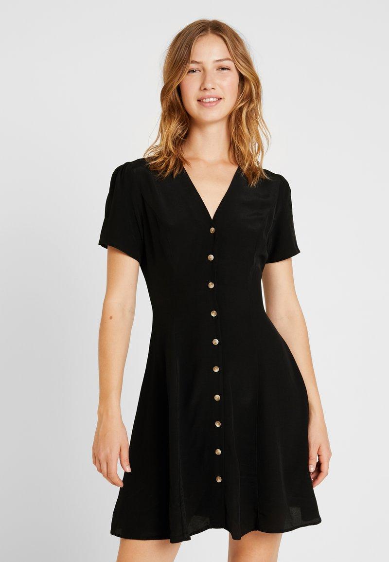 New Look - PLAIN THRU TEA DRESS - Skjortekjole - black