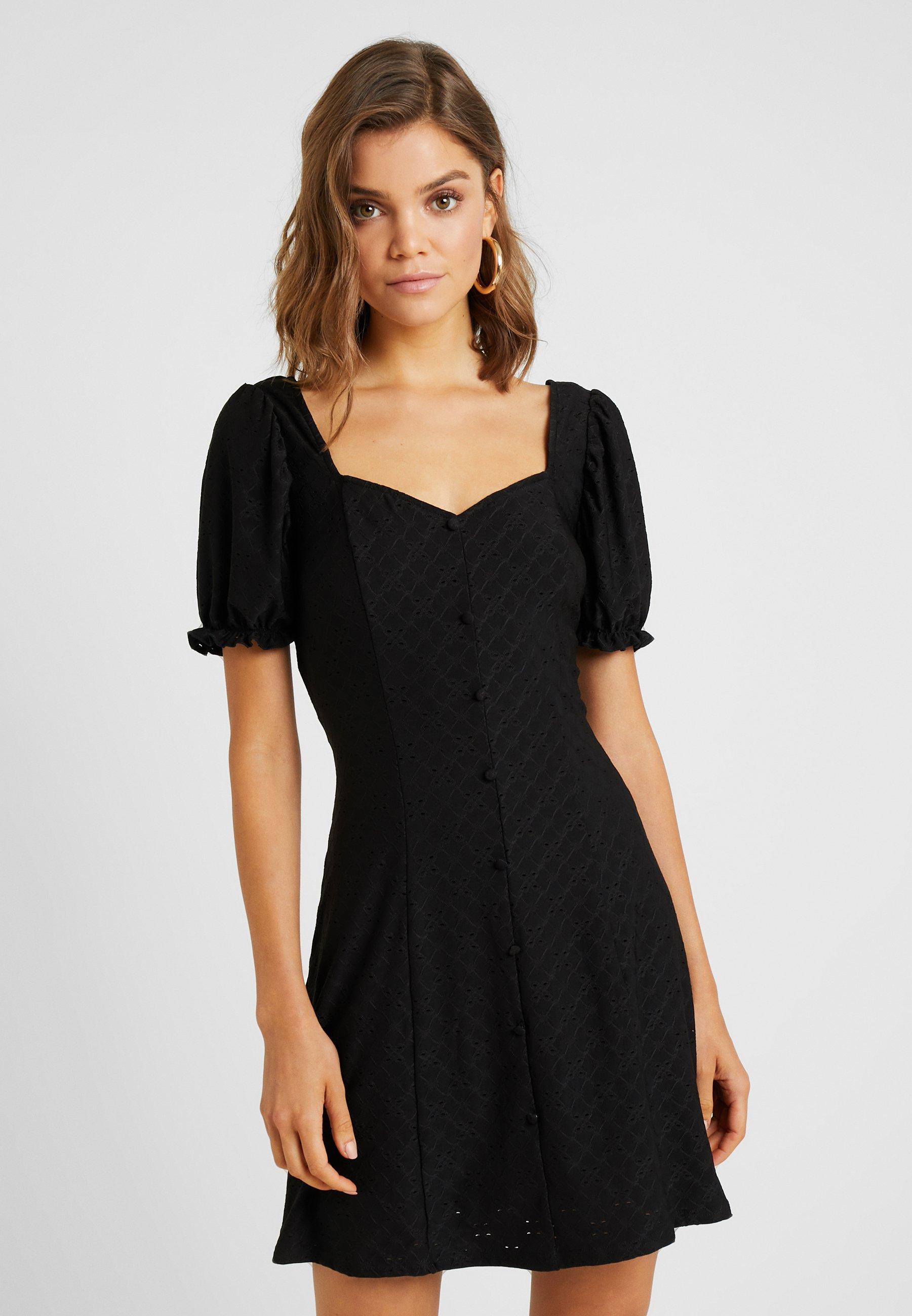 Black Button DressRobe Prairie New Look Chemise UVpSzGqM