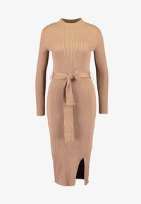 New Look - TIE WAIST DRESS - Shift dress - camel - 4