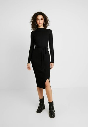 TIE WAIST DRESS - Shift dress - black
