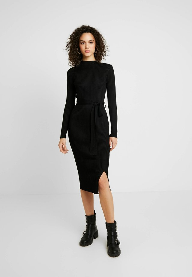 TIE WAIST DRESS - Etuikleid - black