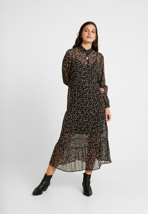 MEG SMOCK MIDI - Shirt dress - black