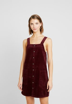 BUTTON THRU PINNY - Robe d'été - dark burgundy