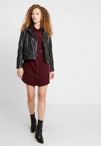 New Look - BELTED DRESS - Vestido informal - burgundy - 2