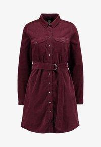 New Look - BELTED DRESS - Vestido informal - burgundy - 4