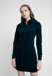 New Look - FITTED DRESS - Abito a camicia - gem teal - 0