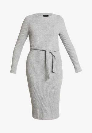 Strikket kjole - mid grey