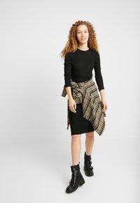 New Look - RIB BELTED MIDI - Shift dress - black - 1