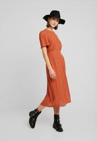 New Look - CAROL SPOT SPLIT - Day dress - brown pattern - 2