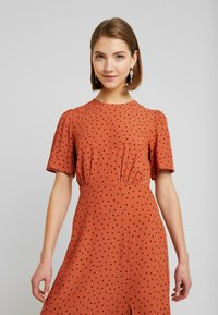 New Look - CAROL SPOT SPLIT - Day dress - brown pattern - 4