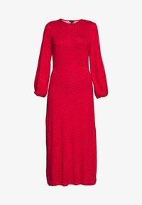 New Look - CAROL SPOT EMPIRE WAIST MIDI - Jersey dress - red - 4