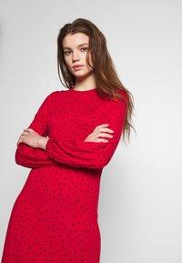 New Look - CAROL SPOT EMPIRE WAIST MIDI - Jersey dress - red - 3