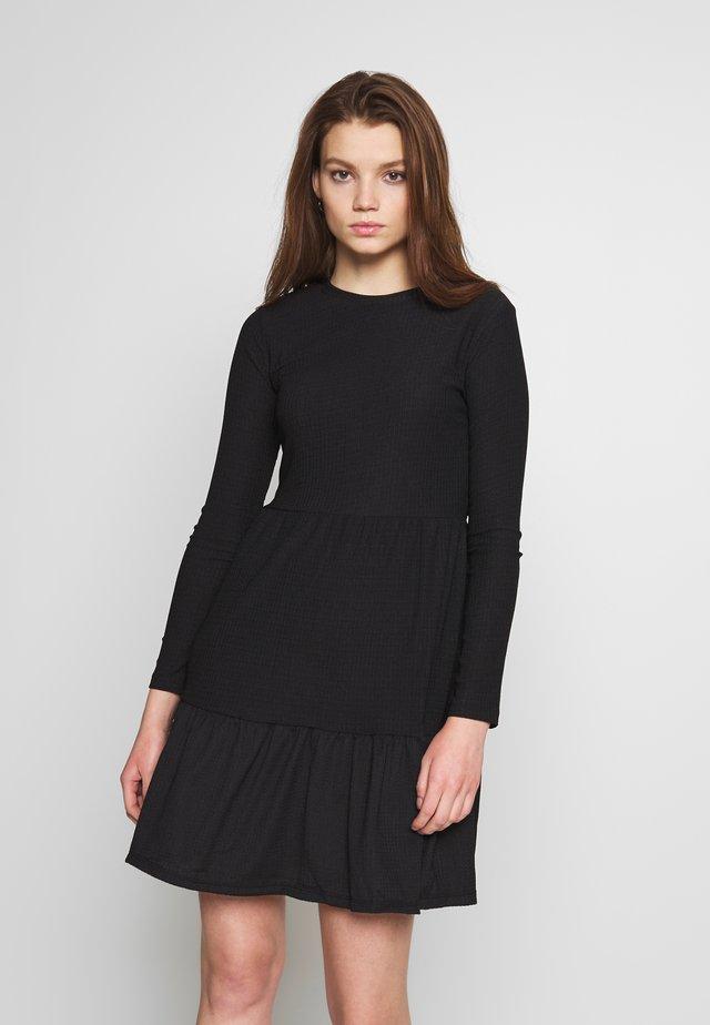 CRINKLE SMOCK DRESS - Day dress - black