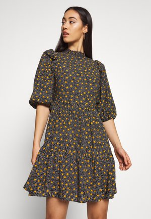 PRINT PIE CRUST TIER SMOCK - Korte jurk - black