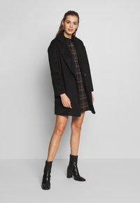 New Look - CHECK WOVEN COLLAR  - Vardagsklänning - Black - 1