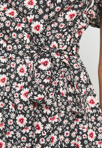 New Look - LEILH FLORAL FRILL MINI - Denní šaty - black pattern - 5