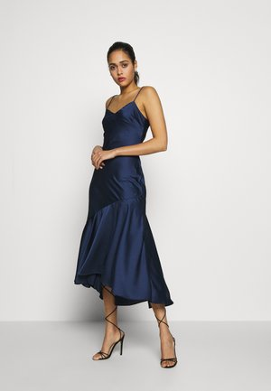 TRUMPET HEM MIDI DRESS - Cocktailjurk - navy