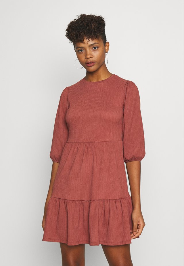 PUFF CRINKLE SMOCK - Day dress - bordeaux