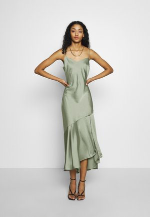 TRUMPET MIDI DRESS - Koktejlové šaty / šaty na párty - light green