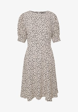 SPOT PUFF TEA DRESS - Vestido informal - white pattern