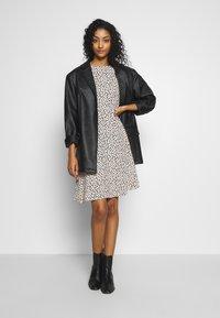 New Look - SPOT PUFF TEA DRESS - Day dress - white pattern - 1