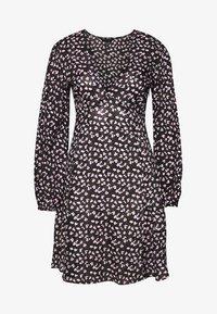 New Look - SPOT DITSY SEAM DETAIL MINI - Day dress - black - 0