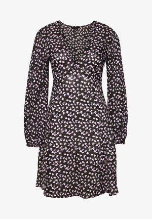 SPOT DITSY SEAM DETAIL MINI - Korte jurk - black