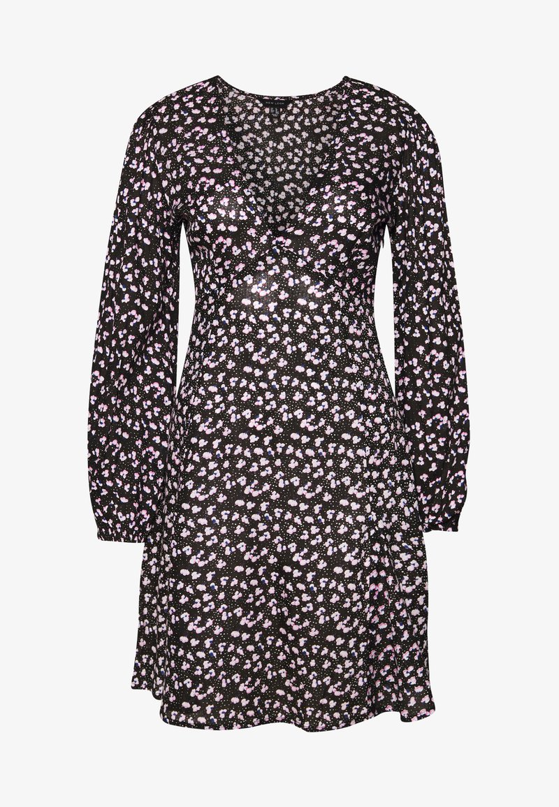 New Look - SPOT DITSY SEAM DETAIL MINI - Robe d'été - black