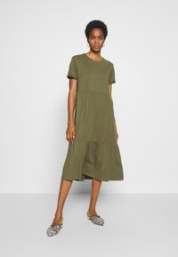 New Look - SMOCK MIDI - Day dress - dark khaki - 0