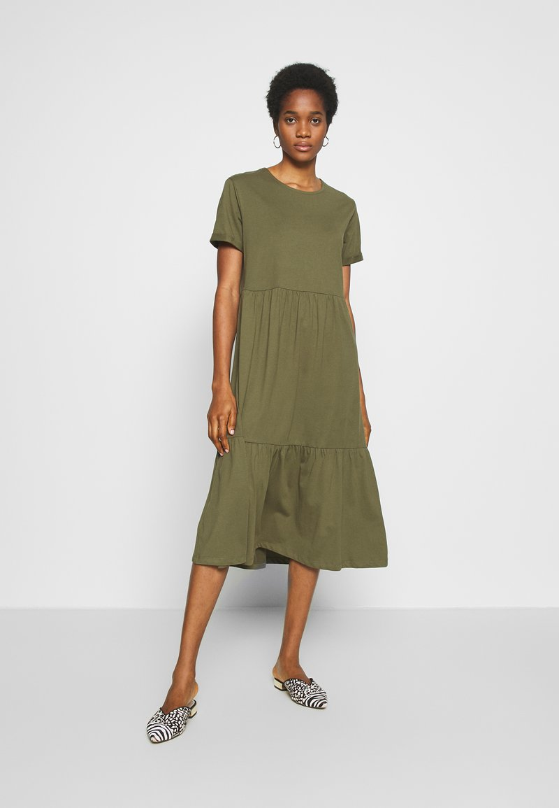 New Look - SMOCK MIDI - Day dress - dark khaki