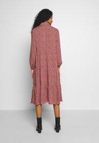 New Look - MAGGIE MAE TIER MIDI SHIRT DRESS - Skjortekjole - pink - 2