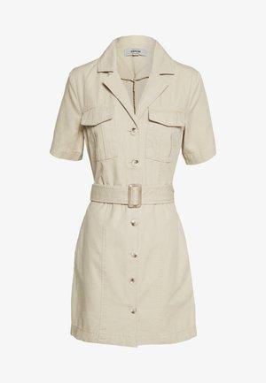BRUCE SHORT SLEEVE DRESS - Vestido informal - stone