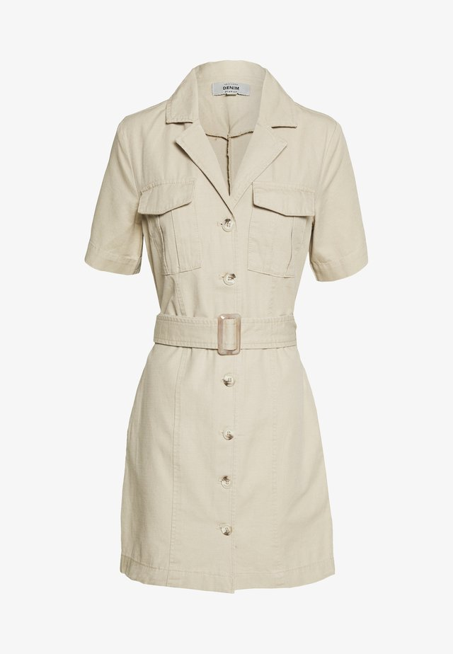 BRUCE SHORT SLEEVE DRESS - Sukienka letnia - stone