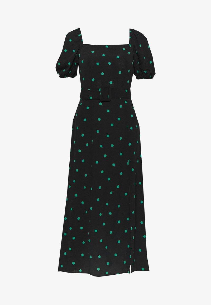 New Look - SPOT BELTED MIDI - Denní šaty - black
