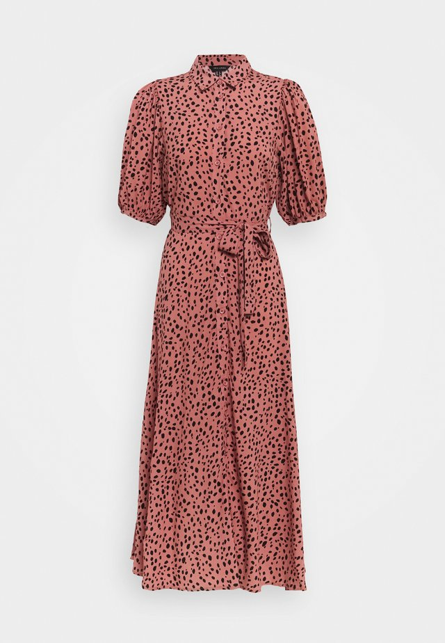 PUFF MIDI DRESS - Sukienka letnia - pink pattern