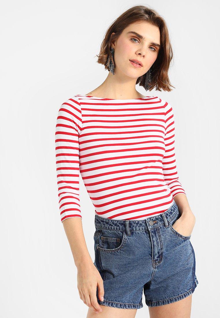 New Look - BRETON STRIPE - Langarmshirt - red