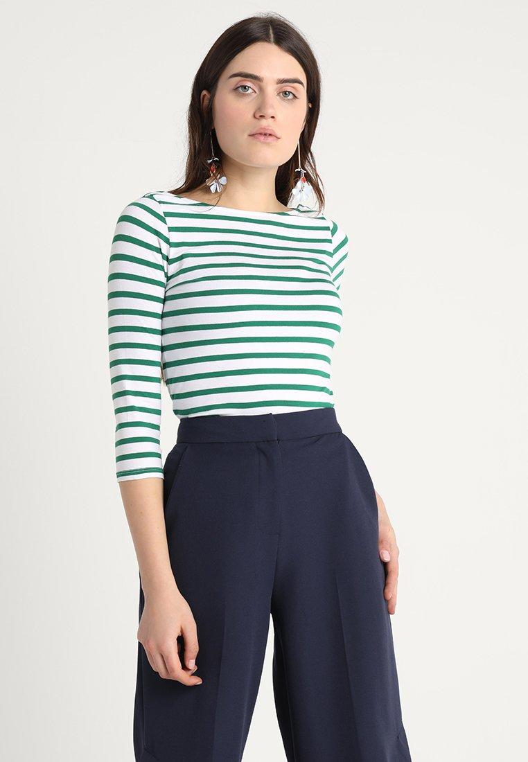 New Look - BRETON STRIPE - Langarmshirt - green