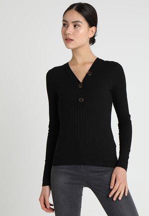 BUTTON GRANDAD - Camiseta de manga larga - black