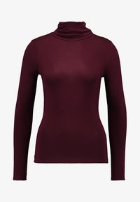 New Look - ROLL NECK - Long sleeved top - burgundy - 3