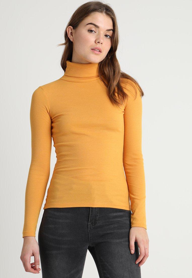 New Look - ROLL NECK - Bluzka z długim rękawem - dark yellow