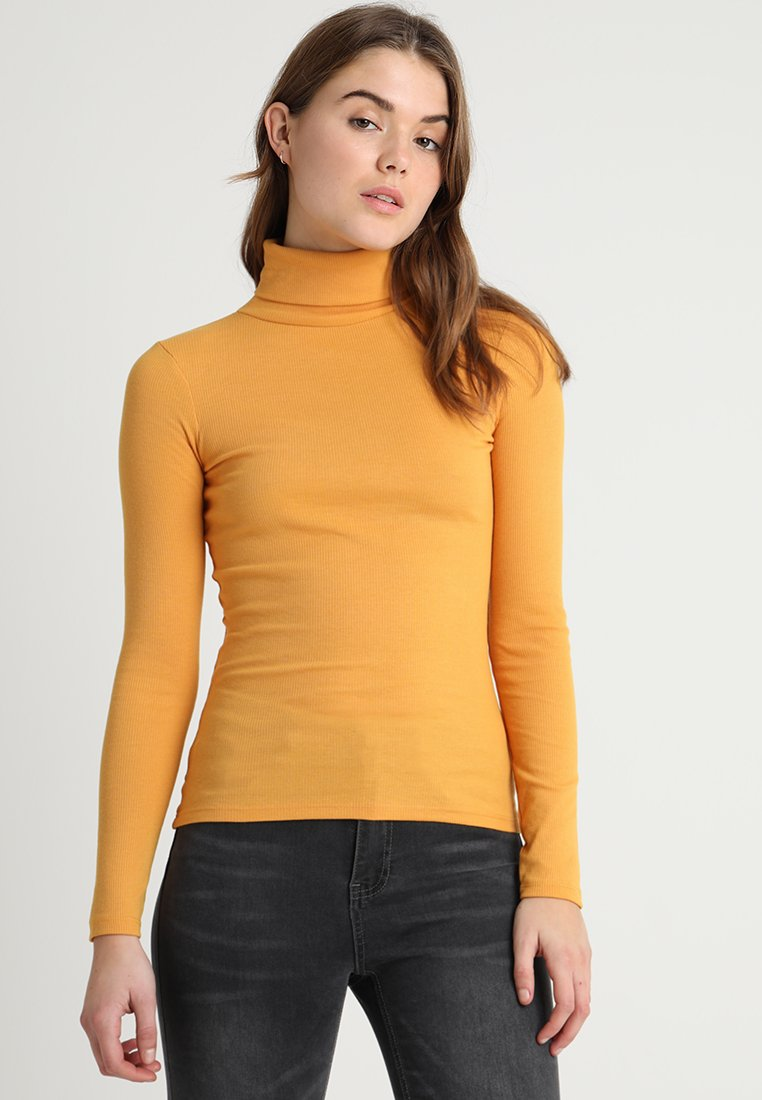 New Look - ROLL NECK - Langærmede T-shirts - dark yellow