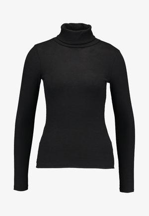 ROLL NECK - Camiseta de manga larga - black