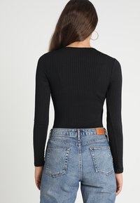 New Look - CARLY LONG SLEEVE WRAP BODY - Langarmshirt - black - 2