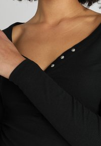 New Look - Y NECK POPPER - Long sleeved top - black - 5