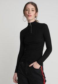 New Look - ZIP - Langærmede T-shirts - black - 0