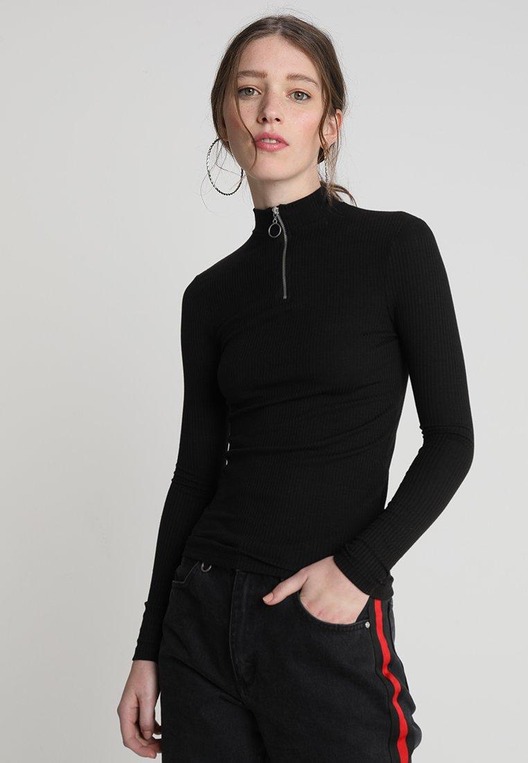 New Look - ZIP - Langærmede T-shirts - black