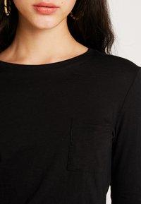 New Look - 2 PACK POCKET TEE - Longsleeve - black/white - 4