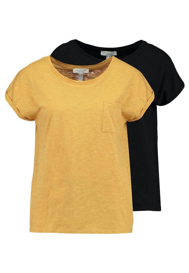 POCKET TEE 2 PACK - T-shirt basic - black/mustard