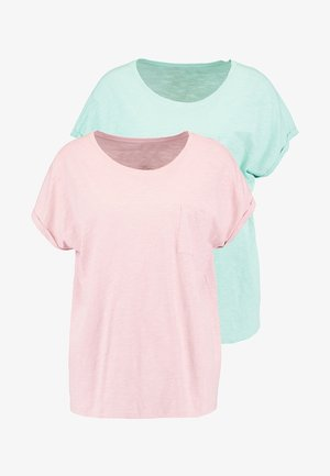 POCKET TEE 2 PACK - T-shirts basic - mint/chestnut