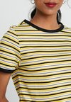 New Look - STRIPE RINGER TEE - Print T-shirt - yellow pattern
